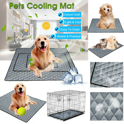 Pets Cooling Chilly Mat Non-Toxic Cool Pad Bed Summer Dog Cat Heat Summer M/L/XL