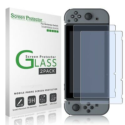 For Nintendo Switch amFilm Premium Tempered Glass Screen Protector (2 Pack)