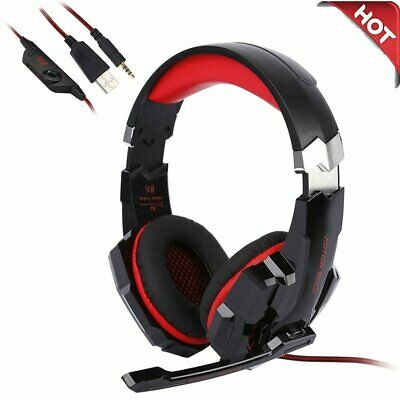 G9000 Gaming Kopfhörer Headset mit Mikrofon LED Surround Sound Stereo Bass Spiel