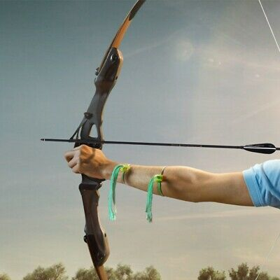 """Wooden Arrows 11//32/"""" Shaft Red Shiled Feathers Archery Long//Recurve Bow Shooting"""