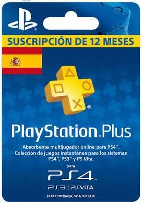 PlayStation Plus PSN Plus 365 Días 12 Meses 1 Año PlayStation PS3 PS4 PS Vita