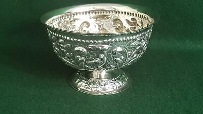 Delightful Antique Asia Minor Repoussé Pattern Sterling Silver Petit Fours Bowl