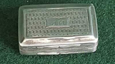 Splendid Antique Georgian 1828 Sterling Silver Rectangular Vinaigrette