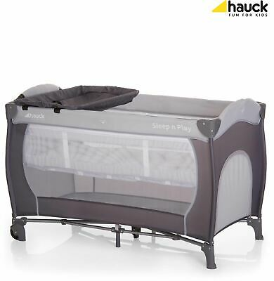 Hauck SLEEP'N PLAY CENTER TRAVEL COT - STONE Baby Care Cotbed Portable - NEW