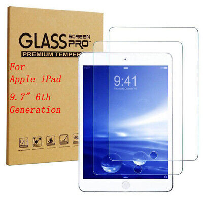 """2PC Tempered Glass Film Screen Protector For iPad 6th Generation 9.7"""" 2017 2018"""