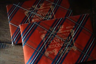 Scottish Songs [Gem Selections 1st & 2nd] tartan illustrated Tomlyn, Alfred W.