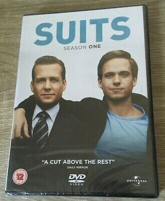 SUITS SEASON 1 SERIES ONE (DVD, 2012, 4-Disc Set) DVD BNIW NEW SEALED GIFT