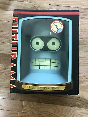 Futurama: The Complete Collection 1999-2009 (DVD, 19-Disc Set in Bender Head)