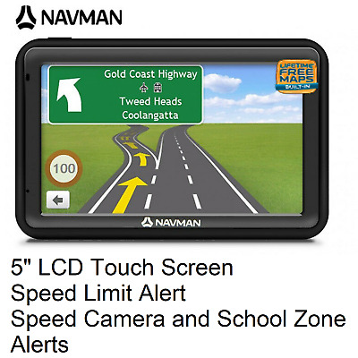 """Navman MOVE85LM 5"""" Touch GPS Navigation with Speed and Premium Safety Alerts"""