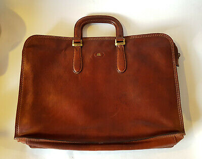 vintage Aktentasche Tasche THE BRIDGE Italy briefcase bag