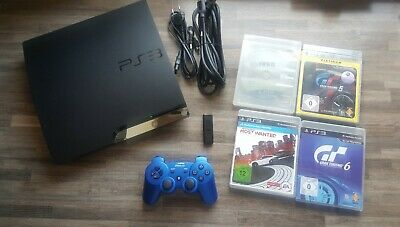 Sony Playstation 3 Ps3 Slim 160GB Konsole + Controller + 4 Spiele PS3
