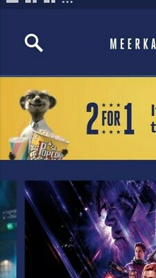 Meerkat Movies 2 For 1 Cinema Code- valid tues 21st or wed 22nd May