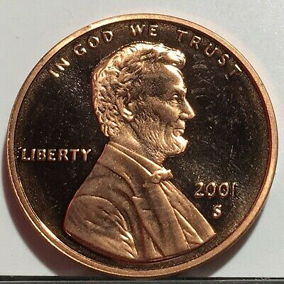 2001 S Proof Lincoln Cent * Free Ship