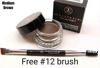 Anastasia Beverly Hills Dipbrow Pomade w Free #12 Brush Fast Shipping US seller.