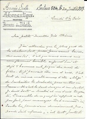 Ww1 Serbian Air Force Salonika Letter From French Major Marx Correspondence .