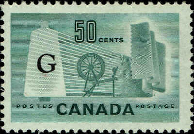 CANADA #O38 1953 50c OVERPRINTED OFFICIAL STAMP ISSUE MINT-OG/NH-VF