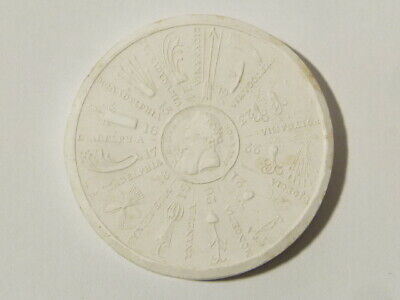 Antique Medal C. Linnaeus Botanist 1707 Plaster Moulding Grand Tour #W19