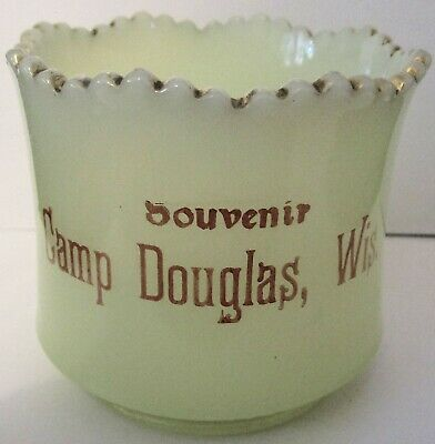 c1900 Camp Douglas, Wisconsin Souvenir Custard Glass Sugar Bowl EAPG