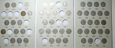 Buffalo Nickel Collection, near complete, 52 coins total