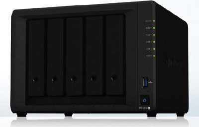 "Synology DiskStation DS1019+ 5-Bay 3.5"" Diskless 4xGbE NAS (Tower) (SMB), Intel"