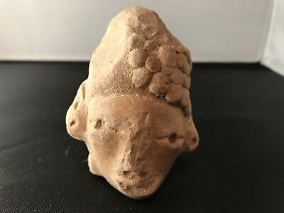 Authentic high quality pre columbian head figure Mayan RARE 800-900 AD