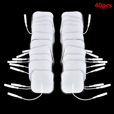 40PCS Replacement Tens Electrode Pads EMS For Intensity Twin Stim III TENS Unit
