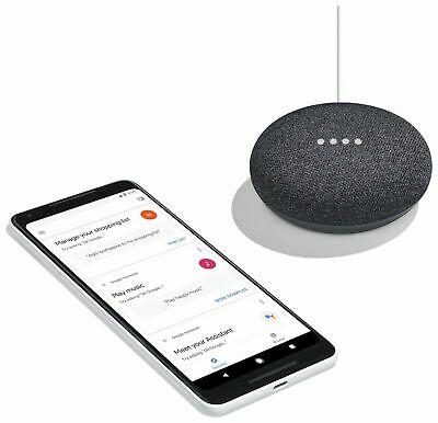 Google Home Mini Wireless Bluetooth Speaker with Google Assistant Charcoal - New