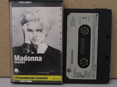 MADONNA- Self Titled/The First Debut Album CASSETTE TAPE PAPER LABEL Chrome