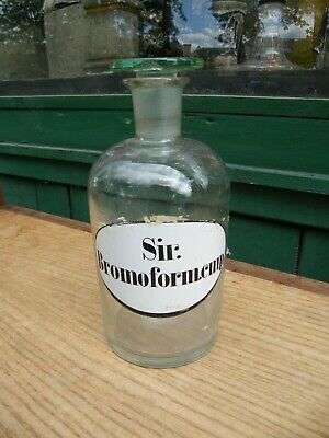 Botella de Farmacia Farmacia Antiguo Sir. Bromoform. CMP