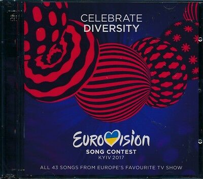 Celebrate Diversity Eurovision Song Contest 2017 Kyiv 2-disc CD NEW