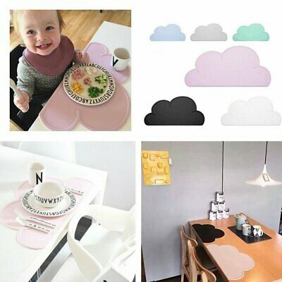 Children Silicone Cloud Shaped Placemat Dinnerware Table Mat Table Placemat RY