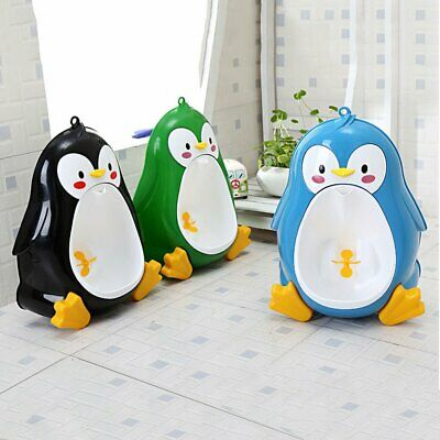 Cartoon Penguin Potty Urinal Toilet Bathroom Pee Trainer for Kids Boys RY