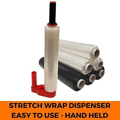 Hand-Held Pallet Wrap Dispenser - Lightweight Plastic Stretch Film Shrink Holder
