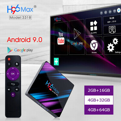 Smart Tv Box H96Max+2/4+16/32/64G Android 9.0 Quad Core Wifi 4K Media Usb 3.0