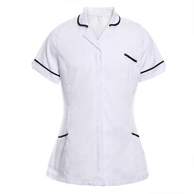 Womens Nurses Healthcare Tunic Dental Salon Vet Beauty Uniform Hospitality