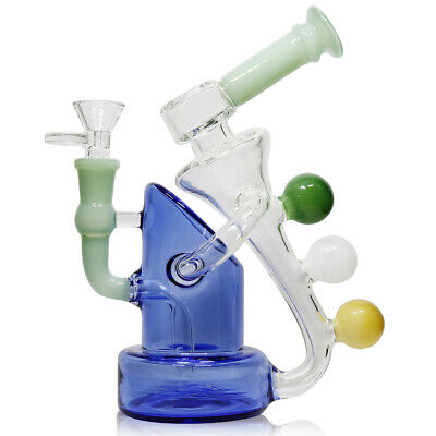 """Hookah Water Pipe Glass Bong 7.5"""" Sticker Base Smoking Pipe Ball Assorted Colors"""