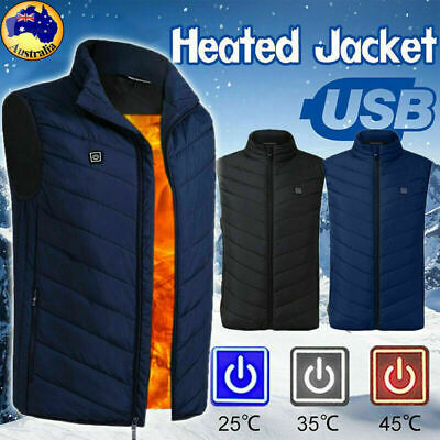 Electric Heated Vest Cloth Jacket USB Winter Warmer Vest Thermal Warm Heated Pad