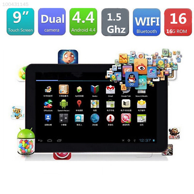 """2019 9"""" Inch Android Tablet PC 16GB Quad Core Dual Camera Bluetooth Wifi  UK"""