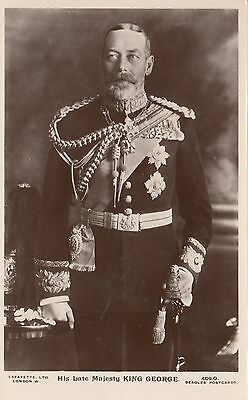 His Late Majesty KING GEORGE V 1936 Photo Lafayette Beagles Real Photo PC 409.O