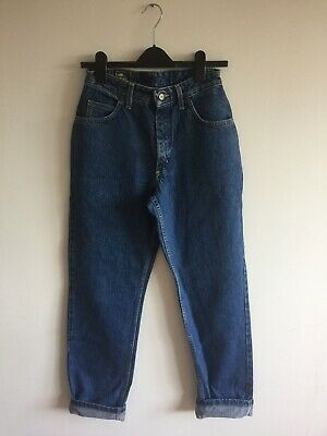 Vintage Lee Virginia High Waisted Mom Jeans Tapered 28 31 Size 10