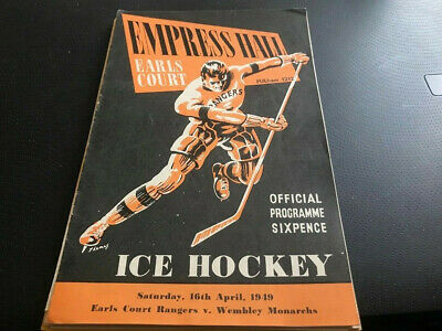 Earls Court Rangers V Wembley Monarchs---Ice Hockey Programme--16Th April 1949