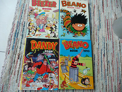 2xThe Beano book+1xThe Dandy Book+The beezer book-4 x hc-4 x 1e druk-Engelstalig