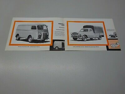 1965 PEUGEOT LCV RANGE LEAFLET. in DUTCH. D4B / 403 B8, AMBULANCE D4B