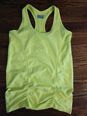 Activewear Tops Athleta Womens Ruched Fast Track Muscle Tank Top Shirt Size Xs Space Green Women's Clothing