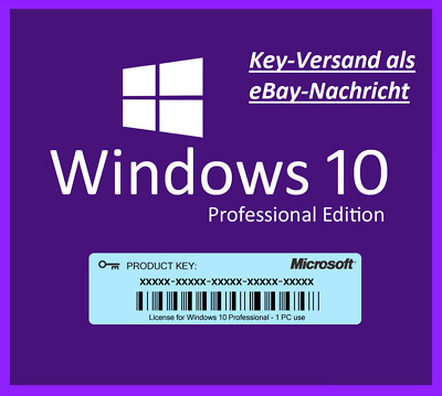Microsoft Windows 10 Professional Pro OEM Key Downloadlink 64Bit 32Bit x64 x86