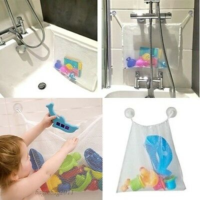 Bath Toy Bag Bath Tidy Storage Net Suction Cup Bag Mesh Shower Bathroom Toy Bag