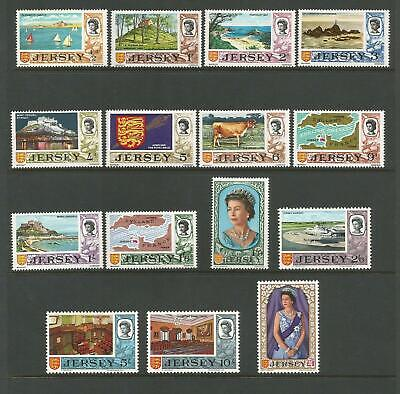 Jersey 1969/70 Pre-Decimal Definitive Set Of 15 Mnh