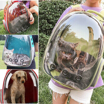 Portable Pet Puppy Bag Travel Carrier Backpack Cat Dog Space Capsule Breathable