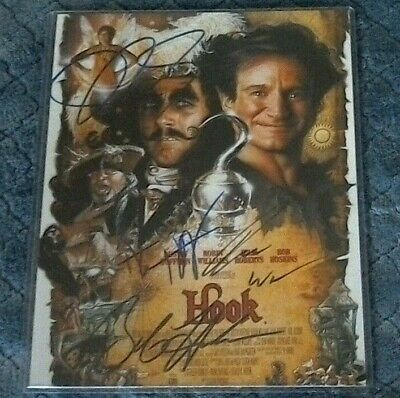 Robin Williams Dustin Hoffman +2 Signed Autographed 8X10 Photo - HOOK CAST W/COA