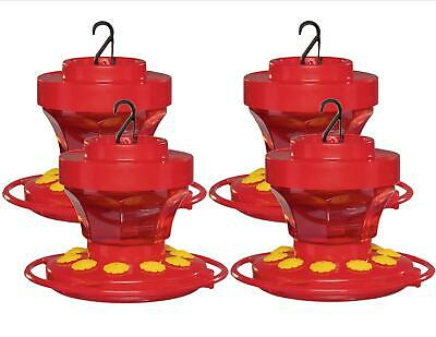 4-Pack First Nature 3091 Hummingbird Nectar Flower Feeder with Easy Cleaning 16